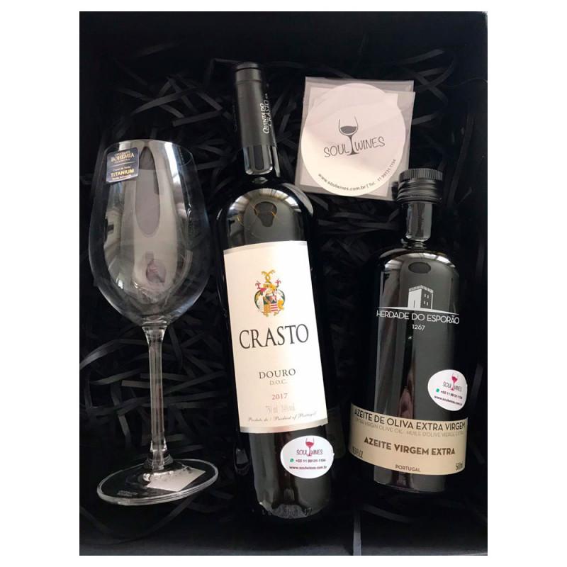 Kit - Vinho Crasto Douro + Azeite de Oliva Herdade do Esporão 500ml