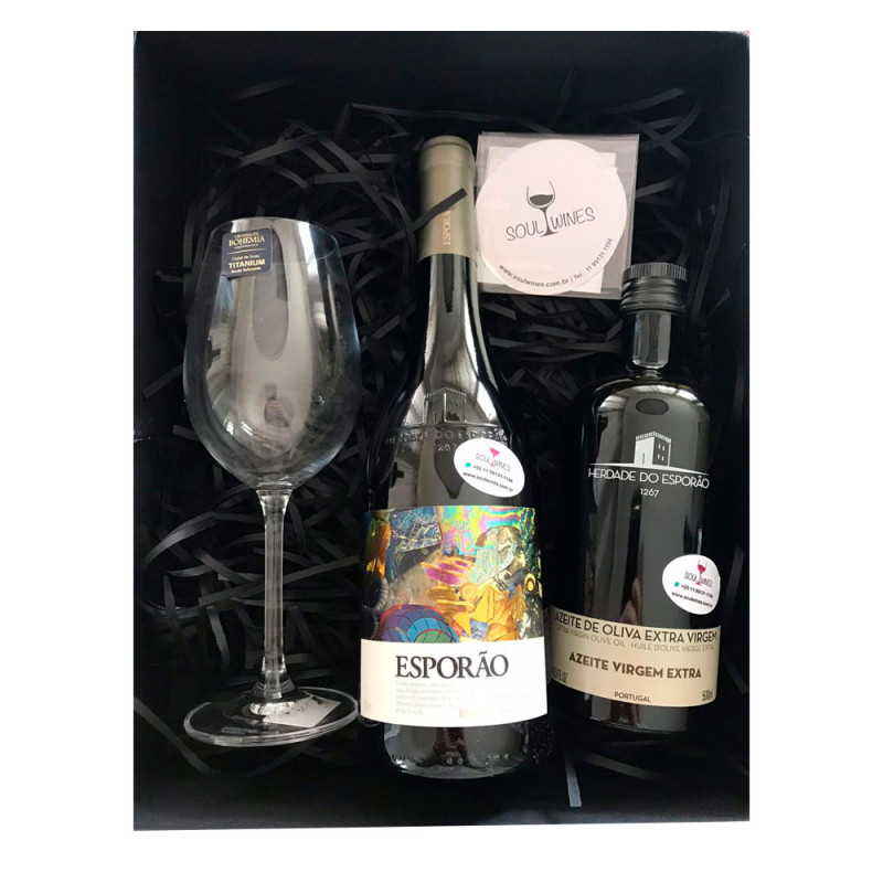 Kit  - Vinho Esporão Reserva Branco + Azeite de Oliva Herdade do Esporão 500ml