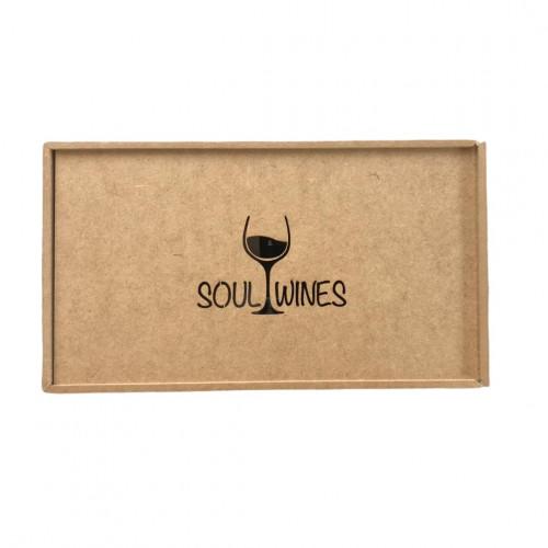 Caixa de Presente Soul Wines em madeira para 2 vinhos