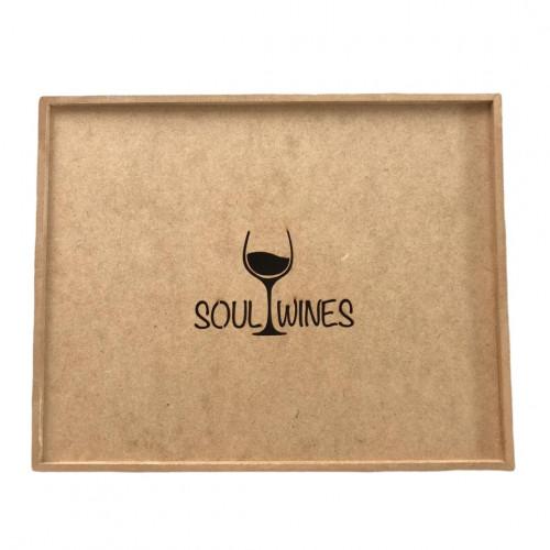 Caixa de Presente Soul Wines em madeira para 3 vinhos